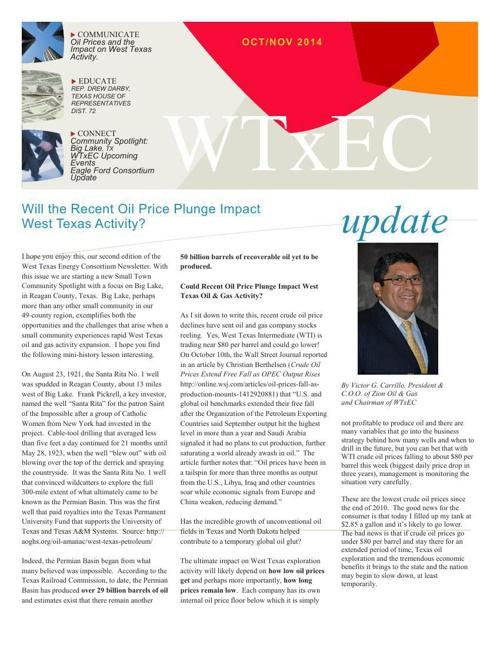 WTxEC October/November News Letter