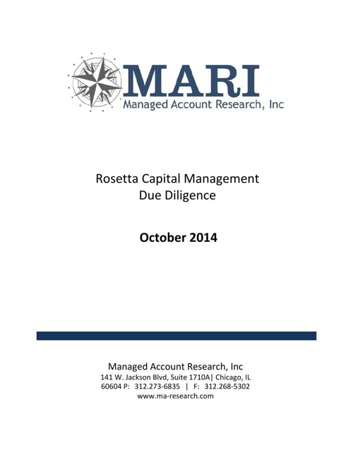 MARI Rosetta Due Diligence eBook Oct2014