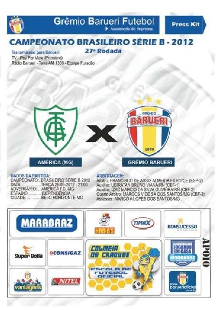2012-09-25 Press Kit pré-jogo - América-MG 1x2 Barueri