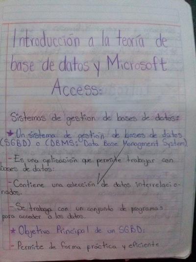 Introducción a la teoría de base de datos y Microsoft Access