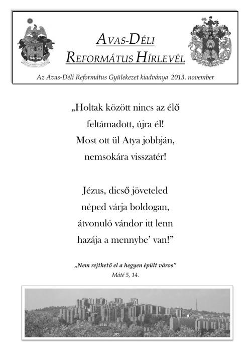 Hírlevél - 2013. November