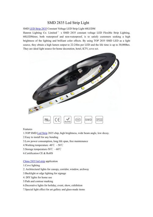 SMD 2835 Led Strip Light