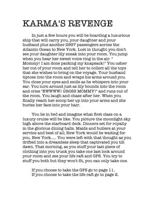 KARMA'S REVENGE!