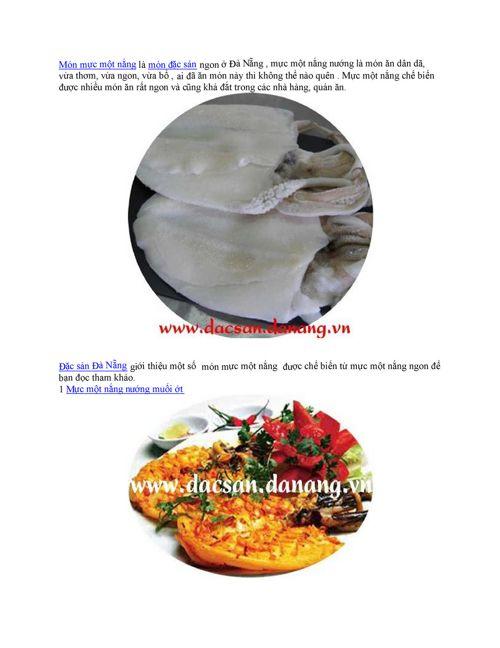 Món mực một nắng là món đặc sản ngon ở Đà Nẵng