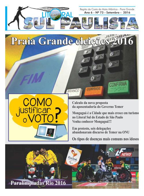 JORNAL LITORAL SUL PAULISTA N 73 21 09 2016 EMVIAR GRAFICA PDF
