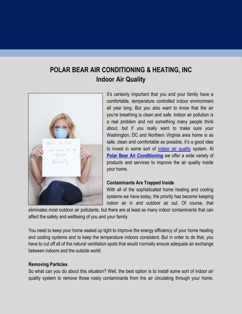 Polar Bear Air Conditioning & Heating, Inc