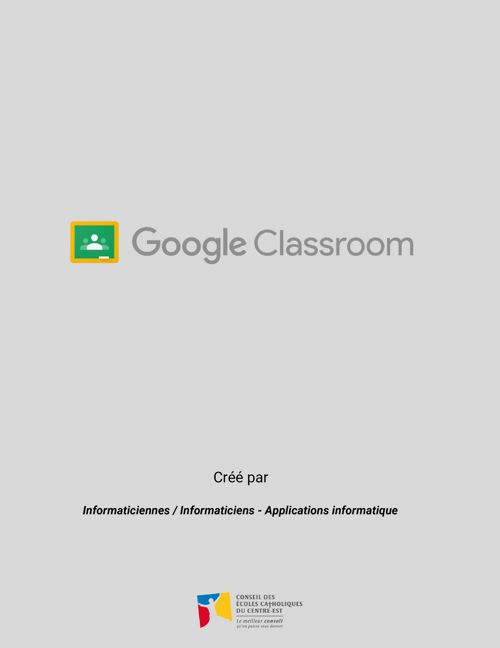 CLASSROOM - Enseignants et élèves - 2017