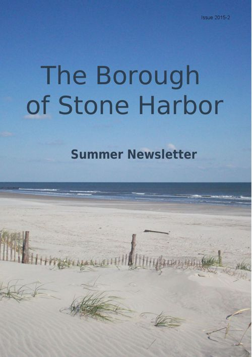 Borough of Stone Harbor Summer Newsletter 2015-2