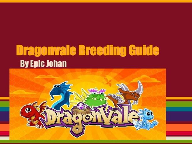 Dragonvale breeding guid
