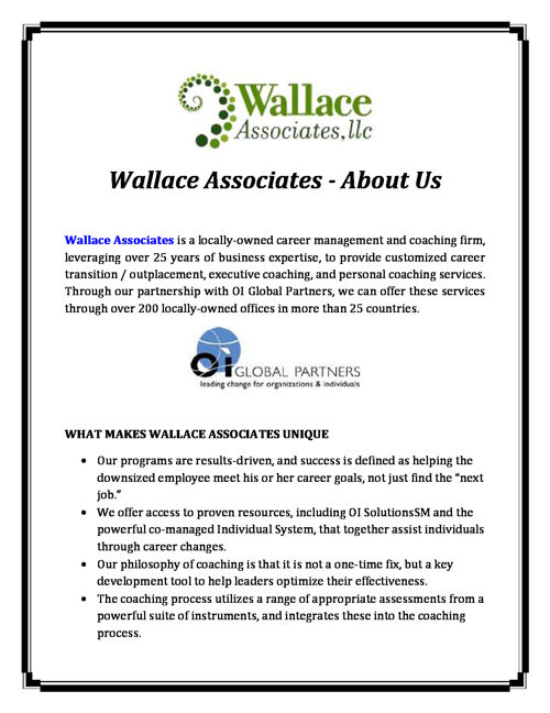 Wallace Associates - About Us