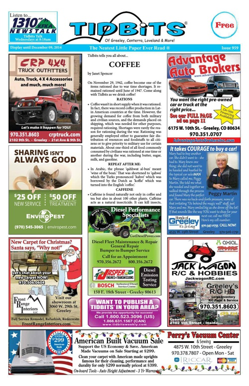 Tidbits of Greeley/Centerra/Loveland, Issue 959