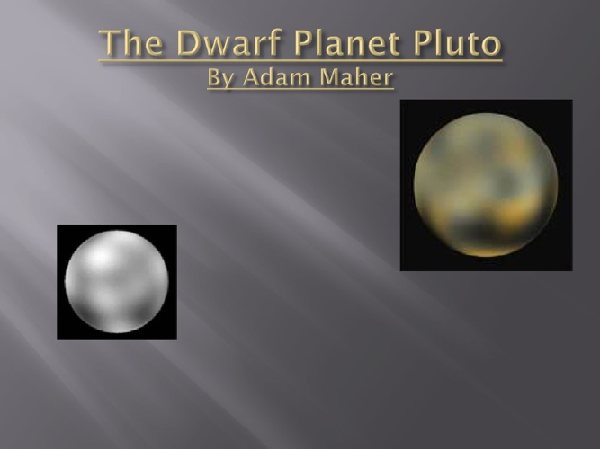 The Dwarf Planet Pluto