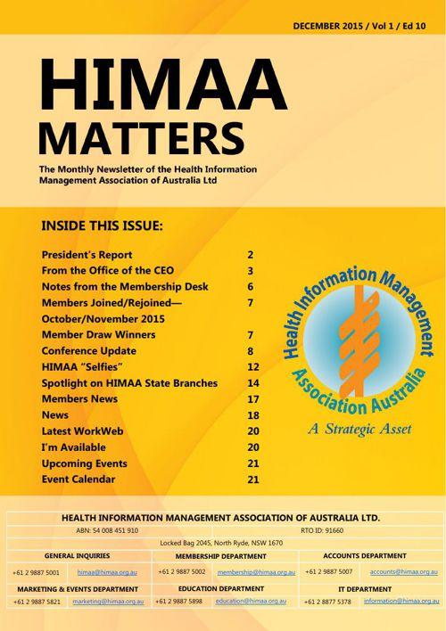 HIMAA Matters - December 2015