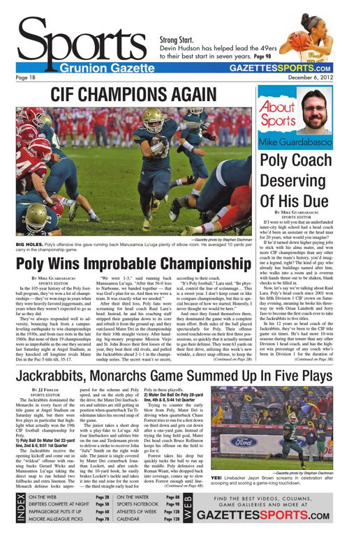 Gazette Sports   December 6, 2012
