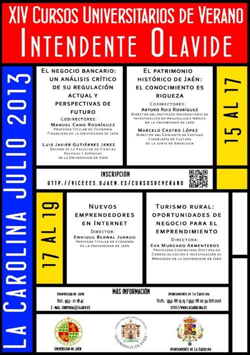 Programa XIV Edición de los Cursos de Verano de La Carolina