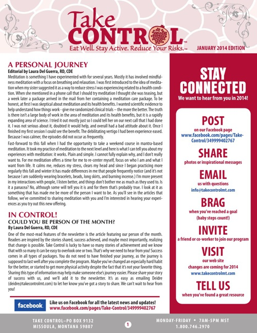 Take Control January 2014 newsletter
