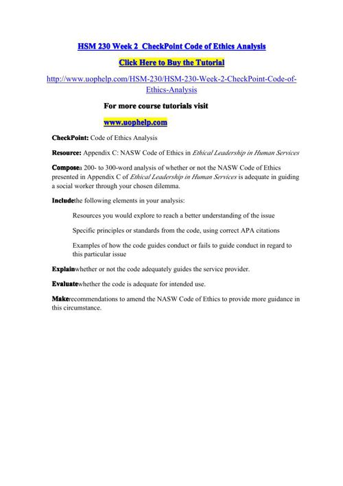 HSM 230 Week 7 CheckPoint Acre Woods Retirement Community Case Study (appendix D)