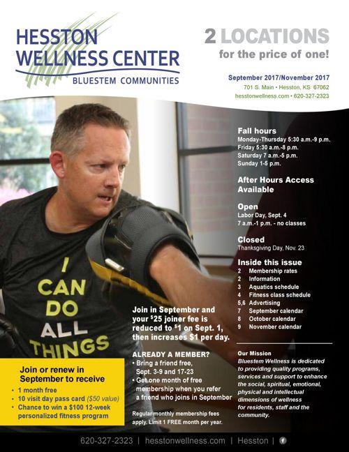 Fall 2017   Hesston Wellness Center News