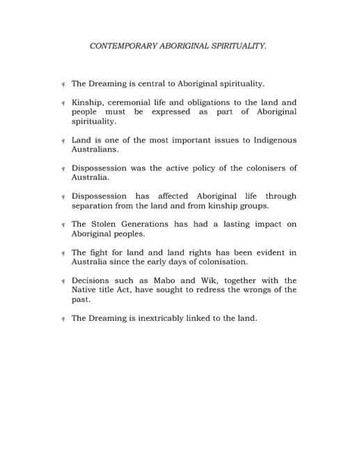 Aboriginal Spirituality