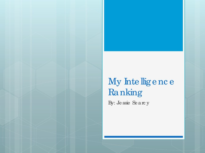 My Intelligence Ranking