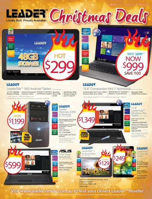 "Leader Computers ""Christmas Deals"" Catalogue 2013"