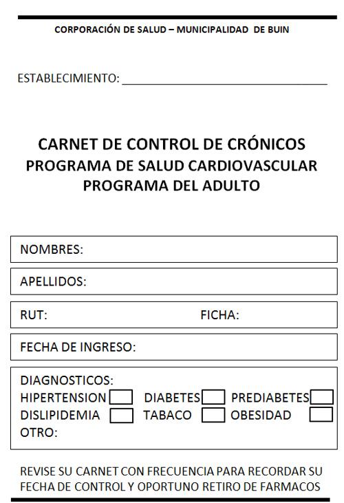 1. Carnet de usuarios PSCV Comuna de Buin (Adulto Joven)