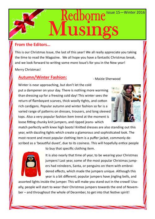 Musings Christmas ( December  16) 15