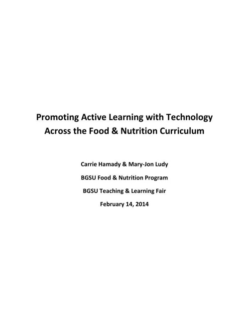 FN Teaching & Learning Fair Packet 2-14-14