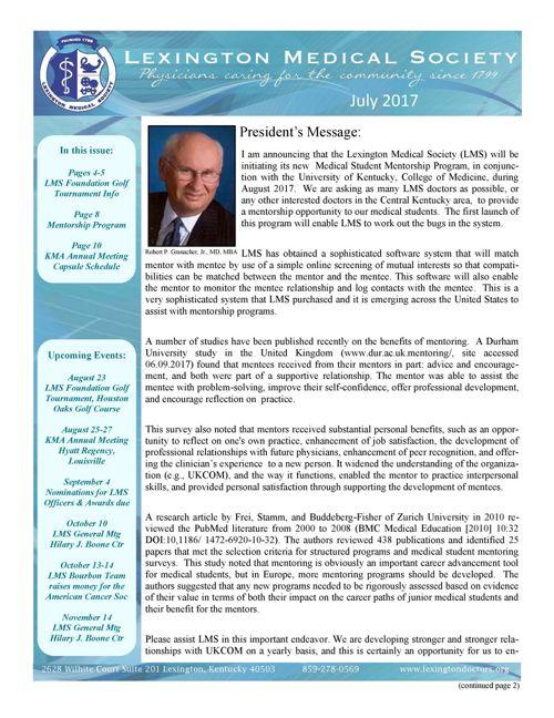 2017 Newsletter