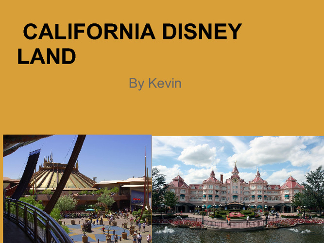 California Disneyland by Kevin