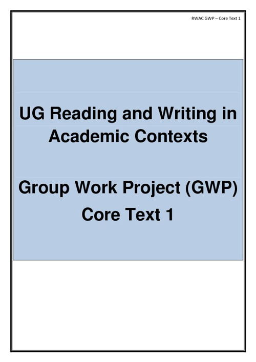 UG GWP Core Text 1