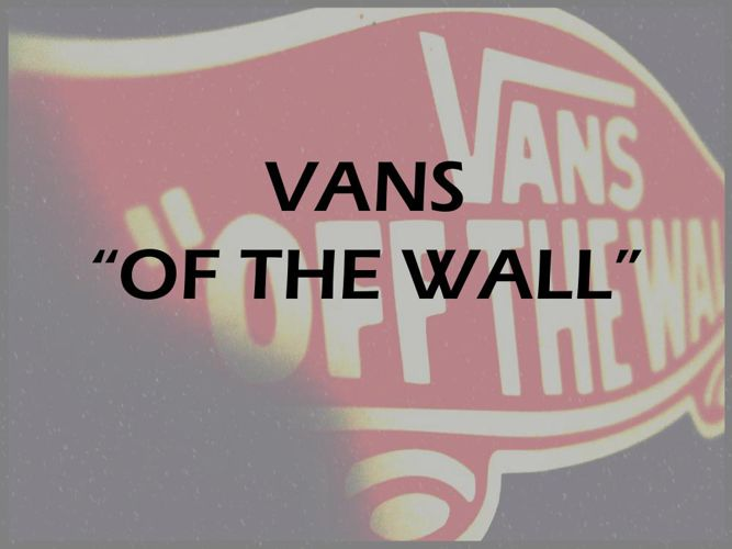 "VANS ""OF THE WALL"""