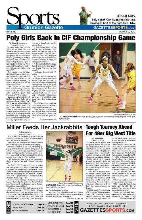 Gazette Sports  |  March 2, 2017