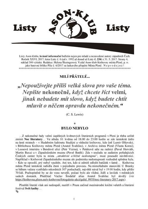 Listy Ason-klubu 6/2017