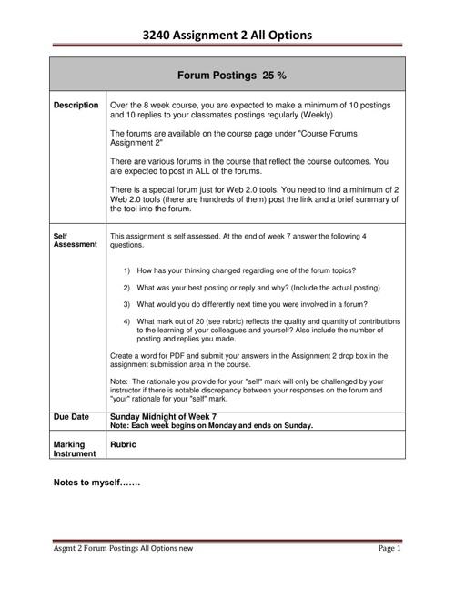 PIDP 3240 Social Media Assignment Instructions