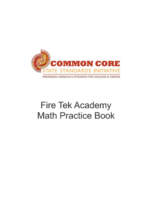 Fire Tek Academy Math Practice Workbook