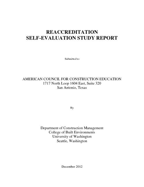 UW CM ACCE Report 2012