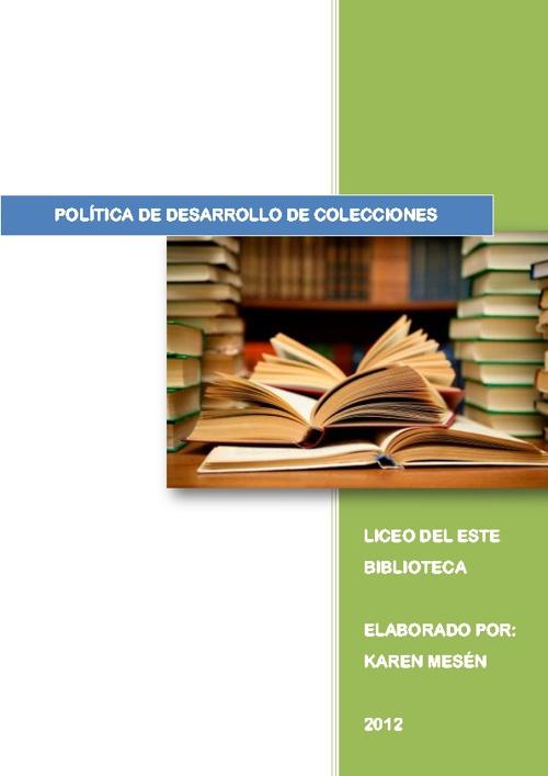 Política de Desarrollo de Colecciones