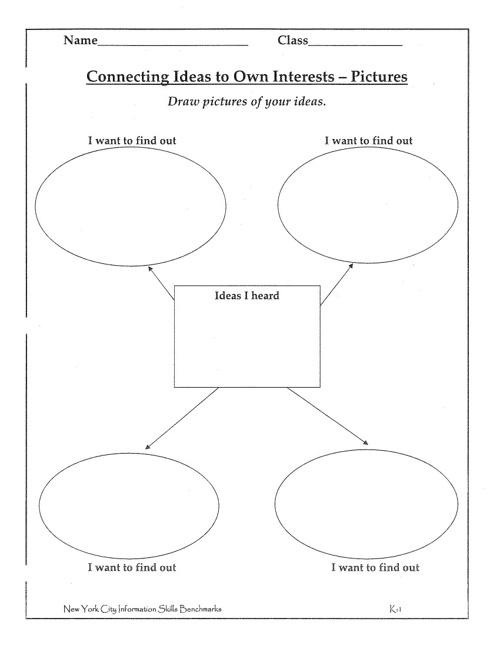 Kindergarten Graphic Organizers