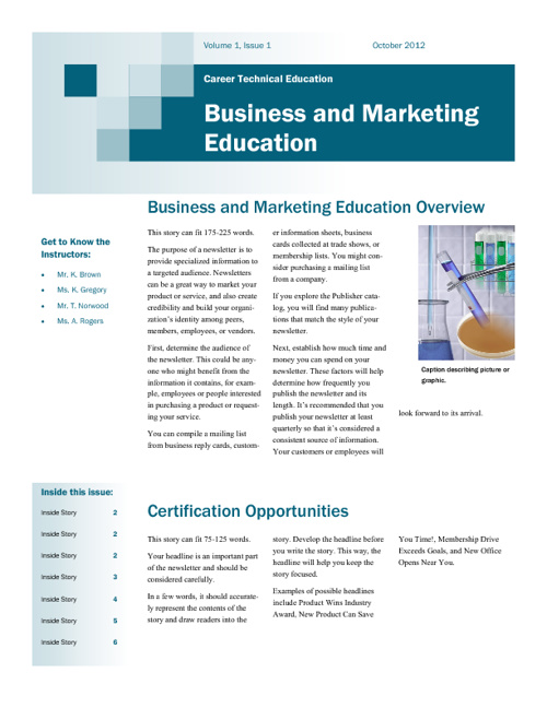CTE Newsletter - Oct 2012