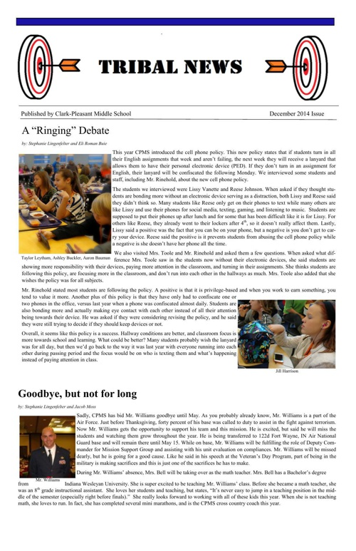December 2014 Tribal News Issue