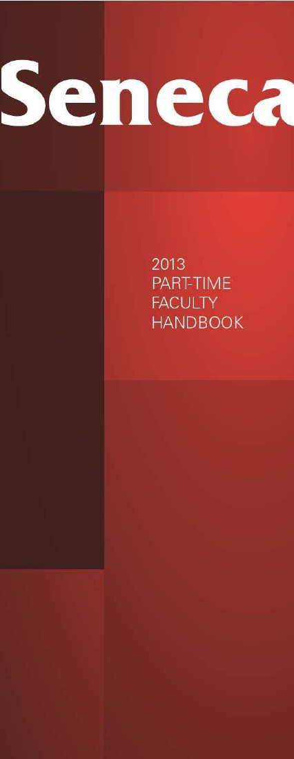 Seneca College Part-Time Faculty Handbook 2013