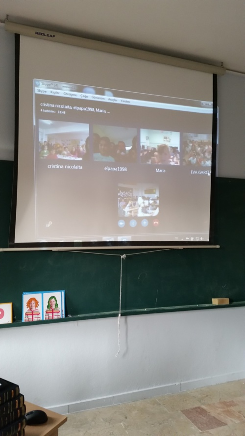 videoconferance with etwinning project partners
