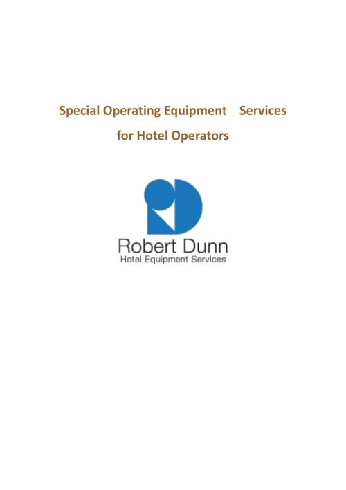 Special service for Hotel operator