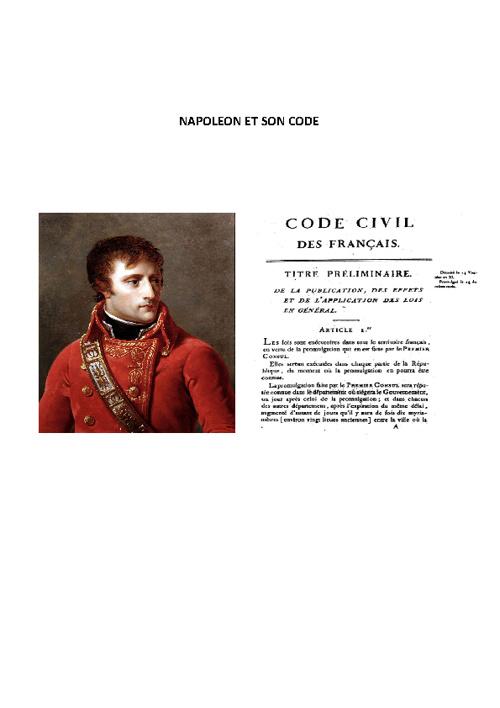 Napoleone e il codice civile