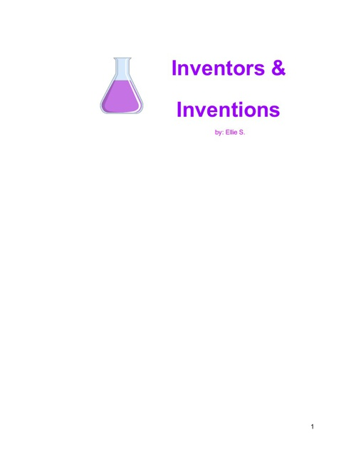 Inventions & Inventors-Ellie S.