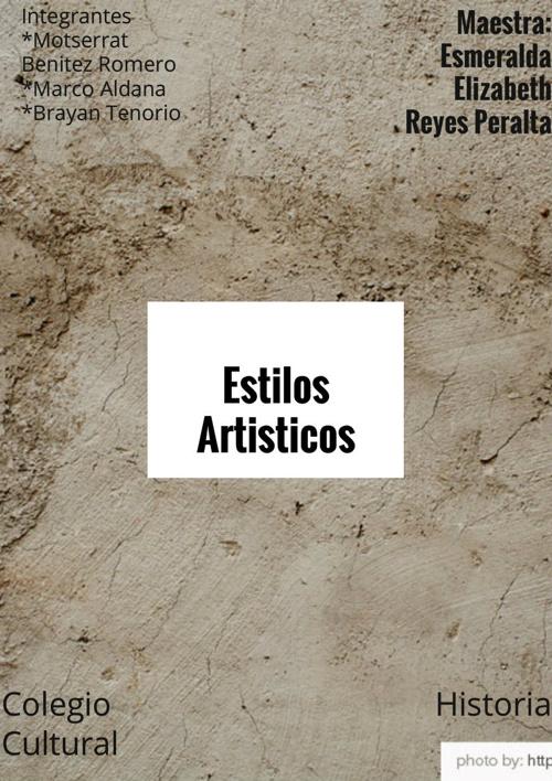 Copy of Copy of Copy of Estilos artisticos