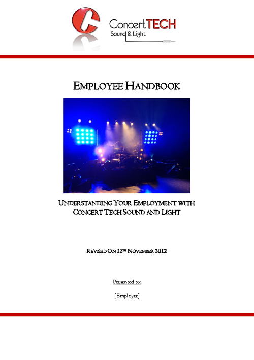 Concert Tech - Employee Handbook