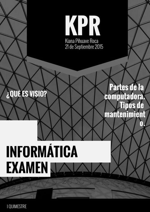 TIPOS DE MANTENIMIENTO DE COMPUTADORAS KIANA PIHUAVE