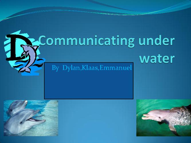 Communication underwater